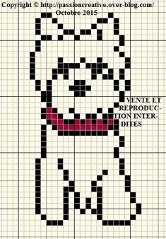 Coucou, Voici un deuxième westie en grille gratuite. Profitez bien de votre week end. A bientôt. Cross Stitch Fabric, Cross Stitch Charts, Cross Stitch Designs, Cross Stitching, Cross Stitch Patterns, Knitting Patterns, Pixel Crochet Blanket, Filet Crochet, Pixel Art