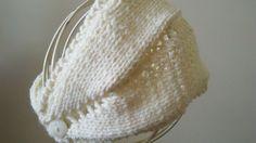 """Rewind knit and crochet"" head/neck warmer"