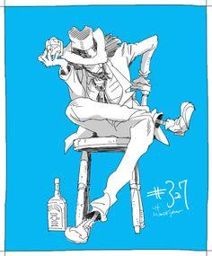 Anime Guys, Manga Anime, Dylan Dog, Lupin The Third, Pretty Drawings, Anime Comics, Cartoon Styles, Conan, Studio Ghibli