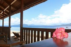 Onong Resort Siladen view from beach view cottage Celebes Divers #diving #indonesia