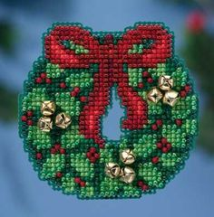Jingle Bell Wreath Cross Stitch Kit | sewandso