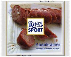 RITTER SPORT Fake Schokolade Käsekrainer