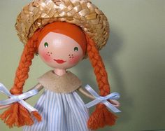 Anne of Green Gables Clothespin Doll