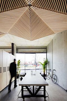 Assemble Office by Assemble | http://www.yellowtrace.com.au/triangles-in-architecture/