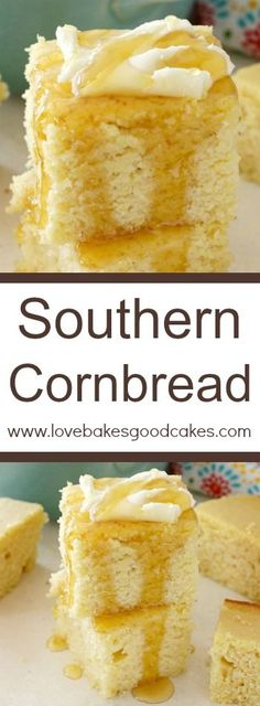 If you like your cornbread on the sweeter side, then THIS Southern Cornbread recipe for you! You'll want to serve it with everything!