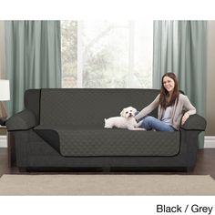 Maytex Reversible Microfiber Sofa Pet Cover