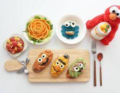 Sesame Street open sandwiches by (@meba_sj)