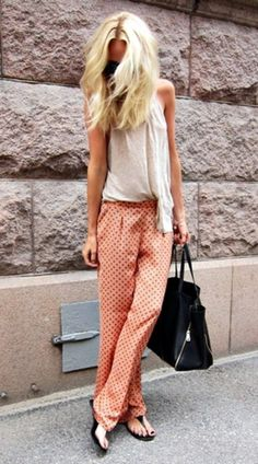 Street Style: Silk Pants. Discover and shop your favorite fashions right on your phone. Download our app at getrockerbox.com.