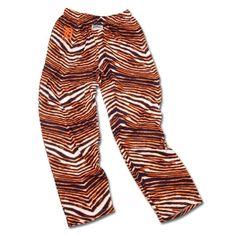 Detroit Tigers ZUBAZ Navy Orange White Vintage Zebra Embroidered Logo Pants