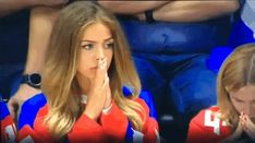 Russian fan upset with the Canadian goal. – Gif