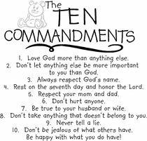 The Ten Commandments - Vinyl Wall Quote for Kids