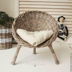 Купить Кресло для куклы плетеное - кресло для куклы, Кресло для кукол, плетеное кресло