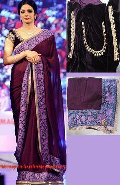Designer Kora Silk and Velvet Wine Bollywood Saree Bollywood Sarees Online, Dress Up, Sari, Velvet, Wine, Beauty, Design, Fashion, Saree