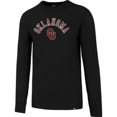 '47 Men's Oklahoma Sooners Long Sleeve T-shirt, Size: Medium