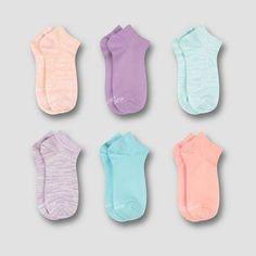 732a8bf7 Hanes Premium Girls' 6pk Super Soft No Show Socks - Colors Vary S