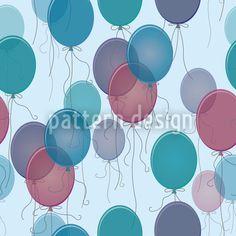 Blue Balloons by Katrin Kristjansdottir available as a vector file on patterndesigns.com Blue Balloons, Vector Pattern, Vector File, New Years Eve, Surface Design, Patterns, Color, Art, Block Prints