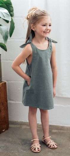 Whether worn in layers over tights or alone in warmer weather, this dress will become a staple in your little's closet to be worn time and time again.