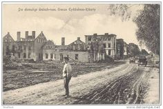Destroyed town Kybartai, 1915-17. My father's birthplace in 1919, AFTER his family returned from period of emigration to U.S.