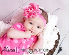 10% Off Entire Order...Gorgeoue Shabby Chic Pink Heart Lace Rose Flower Baby Headband From Kemaily Boutique
