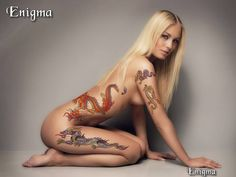 The girl with the dragon tattoos (via Eric Enigmas)