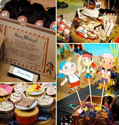 Jake and the neverland pirates themed birthday party via Kara's Party Ideas karaspartyideas.com #jake #neverland #pirates #cake #party #idea