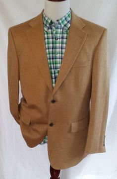 Joseph & Feiss Mens 100% Camel Hair 42 Long  2 Button Blazer Sport Coat Jacket #JosephFeiss #TwoButton