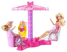 Barbie Sisters Twirl and Spin Ride Play Set-Barbie Sisters Twirl and Spin Ride Play Set Some think the most amusing thing to do at the amusement park is ride the rides, and this is one fun ride! Since the twirly ride is one of Stacie doll's favorites Mattel Barbie, Barbie Y Ken, Barbie Sets, Barbie 2000, Barbie Sisters, Barbie House, Barbie Doll Accessories, Doll Clothes Barbie, Barbie Stuff