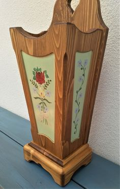 Our hand-painted farm furniture was made of solid wood, spruce and the surface was treated with oil and beeswax. Clock, Etsy, Home Decor, Hand Painted Furniture, Cottage Chic, Watch, Decoration Home, Room Decor, Clocks