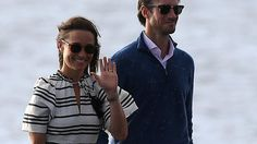 Kate Middleton's sister Pippa has enjoyed a sunny day exploring Sydney on land, sea and in the air with her new husband, James Matthews.