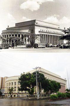 Juan Arellano: The Manila Post Office in Plaza Lawton in the early and in Daniel Burnham, Jose Rizal, Intramuros, Manila Philippines, Present Day, Post Office, Family History, Skyscraper, Skyline