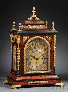 Relojes: Sobremesa Y Pared Elliott Londres Triple Fusee 8 Día Westminster Chimes Caoba Soporte Reloj