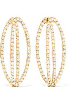 Melissa Kaye Cristina 18-karat Gold Diamond Earrings R2rBBhmg7b