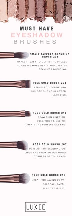 Our must have eyeshadow brushes to add to your collection!