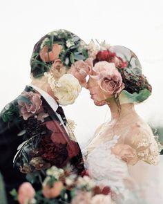 Everyone likes something classic, because it gives a classy impression, it never looks boring, simple but elegant. Likewise with your wedding photo, here are 49 Classic Double Exposure Wedding Phot… Romantic Wedding Photos, Romantic Weddings, Wedding Pictures, Destination Weddings, Unique Weddings, Romantic Ideas, Professional Wedding Photography, Wedding Photography Poses, Wedding Portraits