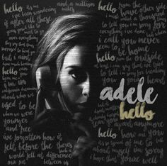 7d5e46e143eb7f396c91c89c6a0b9d41 599x596 Pixels Adele Hello Lyrics Music Song Quotes