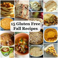 15 Gluten Free Recipes for Fall. These actually look pretty good!