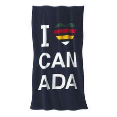 Summer Essentials | Beach Towel I Heart Canada