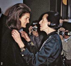 Jackie and Diana Vreeland