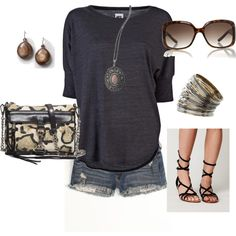summer casual, created by marnifox on Polyvore