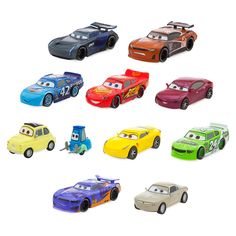 Relive the high octane excitement of the Cars films with this deluxe figure play set. Eleven of the movie's stars are included in this colorful collection that will fuel imaginations at play time.