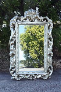 1 x Large Luxury Champagne Framed Wall Mirror Dressing Mirror French Style