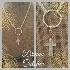 Dream Catcher chain with the cross dangle from Origami Owl Jewelry  JudyRichardson.origamiowl.com