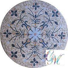 MD079 Marble Mosaic Medallion Tile