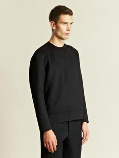 Men, Sweater, Yang Li Men's Double Face Crew Neck