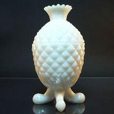 Milch Glas Deckeldose • Vallerysthal, France C1880's • Frankreich