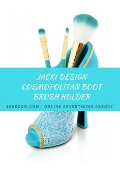 Jacki Design Cosmopolitan Boot #BrushHolder - This stunning boot accessory holder will have your vanity desk looking stylish and organized.  #Homeimprovementservices #Women #Girl #Nevada #USA #LasVegas #Vegas
