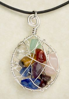 Love this chakra necklace..it matches everything!