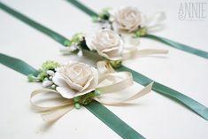 Купить Браслеты для невесты и подружек зеленые - браслет, браслеты для подружек, свадьба, свадебные аксессуары