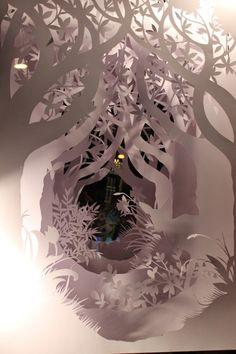 Paper sculpture made to order handmade paper cutting home decor wall art OOAK original diorama installation contemporary art paper art is part of Paper cut art sabiesabi Shipping placed in a plasti - Kirigami, 3d Paper, Paper Crafts, Laser Paper, Foam Crafts, Tunnel Book, Paper Magic, Paper Artwork, Home Decor Wall Art