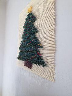 Christmas tree/ Woven wall hanging/Wall tapestry/Macrame wall hanging/Woven wall…